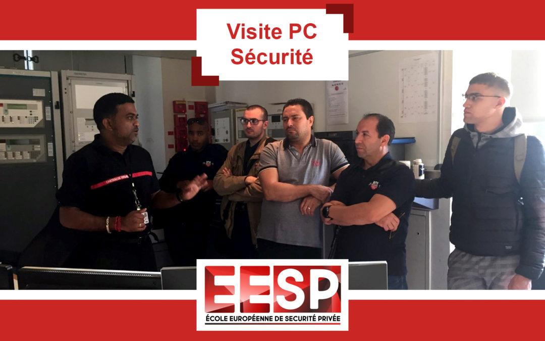 Visite du PC Sécurité du Château